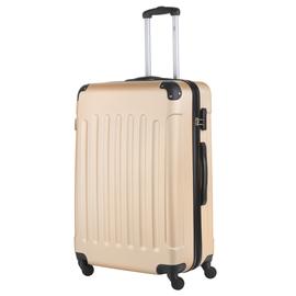 Troler Mare ABS 4 Roti TravelZ SERIE 76 cm Auriu