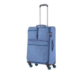 Troler Mediu 4 Roti CarryOn CARGO 67 cm Albastru