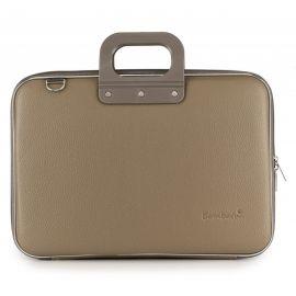 """Geanta lux business laptop 15"""" Clasic vinil Bombata-Grej"""