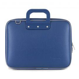 "Geanta lux business laptop 13"" Medio Bombata-Albastru cobalt"