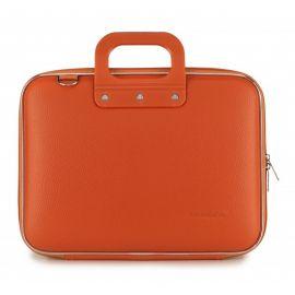 "Geanta lux business laptop 13"" Medio Bombata-Portocaliu"