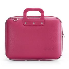 "Geanta lux business laptop 13"" Medio Bombata-Roz inchis"