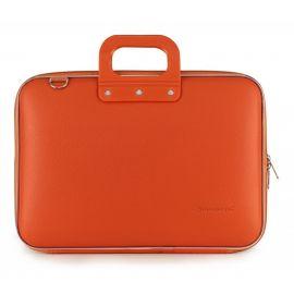 "Geanta lux business laptop 15"" Clasic vinil Bombata-Portocaliu"