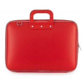"""Geanta lux business laptop 15"""" Clasic vinil Bombata-Rosu"""