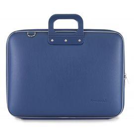 "Geanta lux business laptop 17"" Maxi Bombata-Albastru cobalt"