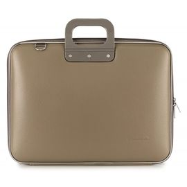 "Geanta lux business laptop 17"" Maxi Bombata-Grej"