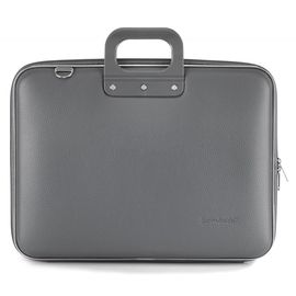 "Geanta lux business laptop 17"" Maxi Bombata-Gri"