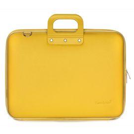 "Geanta lux business laptop 17"" Maxi Bombata-Galben"