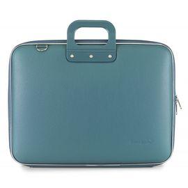 "Geanta lux business laptop 17"" Maxi Bombata-Turcoaz"