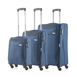 Set Trolere Extensibile 4 Roti CarryOn AIR 3 Piese Bleumarin