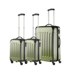 Set Trolere S+L ABS 4 Roti TravelZ SERIE  3 Piese Verde