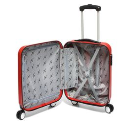 Troler Cabina ABS 4 Roti Duble JOHN TRAVEL TOOL MJ 94 - 55 cm