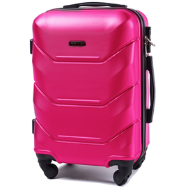 Troler Cabina WINGS PEACOCK ABS 4 Roti Detasabile 50 cm Fuchsia