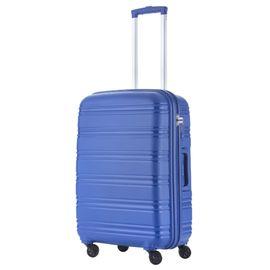 Troler Mare Polipropilena 4 Roti TravelZ BIG BARS 78 cm Albastru