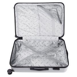 Troler Mare ABS LAMONZA STEELCASE aspect metalic 75 cm Argintiu