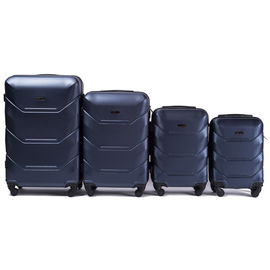 Set Trolere WINGS PEACOCK ABS 4 Piese Bleumarin
