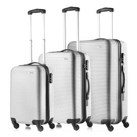Set Trolere ABS 4 Roti TravelZ HORIZON 3 Piese Argintiu