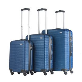 Set Trolere ABS 4 Roti TravelZ HORIZON 3 Piese Albastru