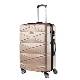 Troler Mare ABS TravelZ DIAMOND 76 cm Auriu