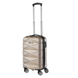 Troler Cabina ABS TravelZ DIAMOND 55 cm Auriu