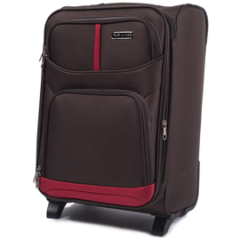 Troler Cabina Extensibil WINGS RAVEN 2 Roti 54 cm Coffee
