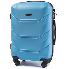 Troler Cabina WINGS PEACOCK ABS 4 Roti 55 cm Albastru deschis