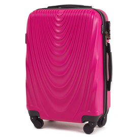 Troler Cabina WINGS FALCON ABS 4 Roti Detasabile 51 cm Fuchsia
