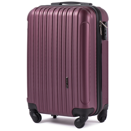 Troler Cabina WINGS FLAMINGO ABS 4 Roti Detasabile 51 cm Burgundy