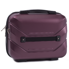 Beauty Case ABS WINGS PEACOCK Burgundy