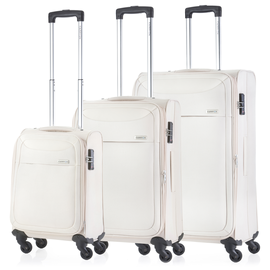 Set Trolere Extensibile 4 Roti CarryOn AIR 3 Piese Bej