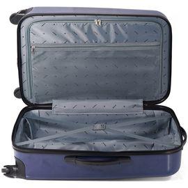 Troler Mediu ABS 4 Roti BENZI BZ 5337 - 66 cm Bleumarin