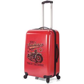 Troler Mare ABS 4 Roti BENZI BZ 5338 - 76 cm Rosu