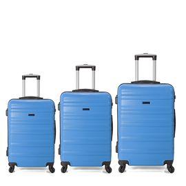 Set Trolere ABS 4 Roti BENZI BZ 5391 3 Piese Albastru