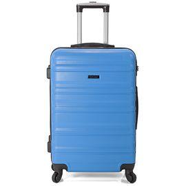 Troler Mediu ABS 4 Roti BENZI BZ 5391 - 64 cm Albastru
