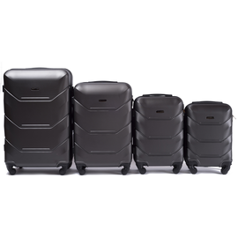 Set Trolere WINGS PEACOCK ABS 4 Piese Antracit