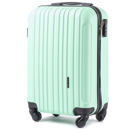 Troler Cabina WINGS FLAMINGO ABS 4 Roti Detasabile 51 cm Verde deschis