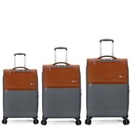 Set Trolere TSA Poliester 4 Roti Duble BENZI BZ 5389 3 Piese