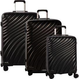 Set Trolere ABS cu Cifru TSA 4 Roti Duble FABRIZIO STREAM F10307, 3 Piese