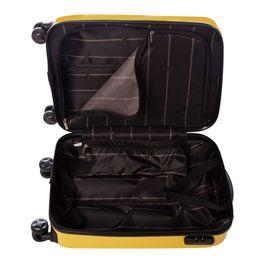 Troler Cabina ABS 4 Roti Duble ELLA ICON RAINBOW 1105-55 cm Galben