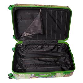 Troler Mediu Policarbonat 4 Roti Duble ELLA ICON RIO 1135-66 cm Verde