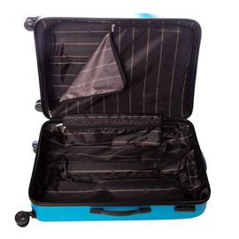 Troler Mare ABS 4 Roti Duble ELLA ICON RAINBOW 1143-75 cm Albastru