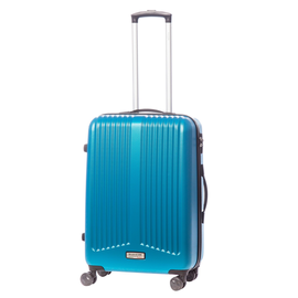 Troler Mediu ABS 4 Roti Duble ELLA ICON RAINBOW 1144-65 cm Albastru