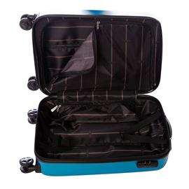 Troler Cabina ABS 4 Roti Duble ELLA ICON RAINBOW 1145-55 cm Albastru