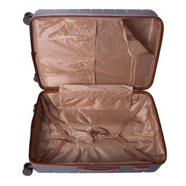 Troler Mare ABS 4 Roti Duble ELLA ICON LEAF 1281-78 cm Argintiu