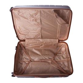 Troler Mare ABS 4 Roti Duble ELLA ICON LEAF 1284-78 cm Gri inchis