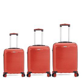 Set Trolere ABS 4 Roti Duble Cifru TSA BENZI BZ 5359 3 Piese