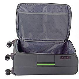 Troler Mediu Poliester Extensibil 4 Roti Duble Cifru TSA BENZI BZ 5390 - 67 cm