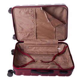 Troler Mediu ABS 4 Roti ELLA ICON BRICK 1297-66 cm Rosu