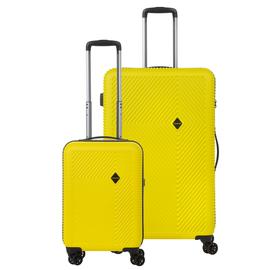 Set Trolere ABS/PC, Cifru TSA, Cod unic OKOBAN, CarryOn CONNECT, 2 Piese, Galben