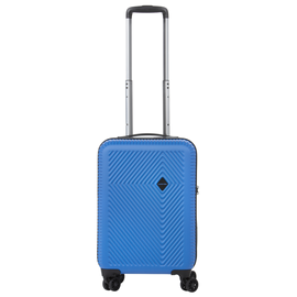 Troler Cabina ABS/PC, Cifru TSA, USB incorporat, CarryOn CONNECT, 55 cm, Albastru